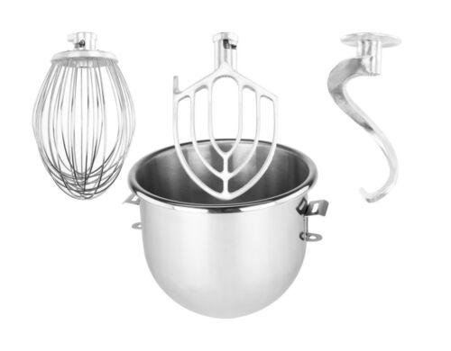 Whip 20 qt Attachments Package for Hobart A200 Flat Beater Bowl Hook