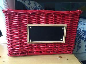 Red Basket Storage Solution