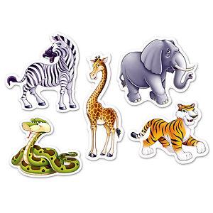 10 jungle mini cutouts safari zoo animals party wall decorations