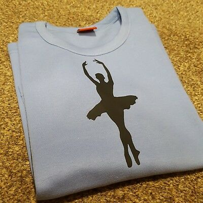 Girls Pale Blue RAD Ballet Dance Long Sleeve Crossover Cardigan