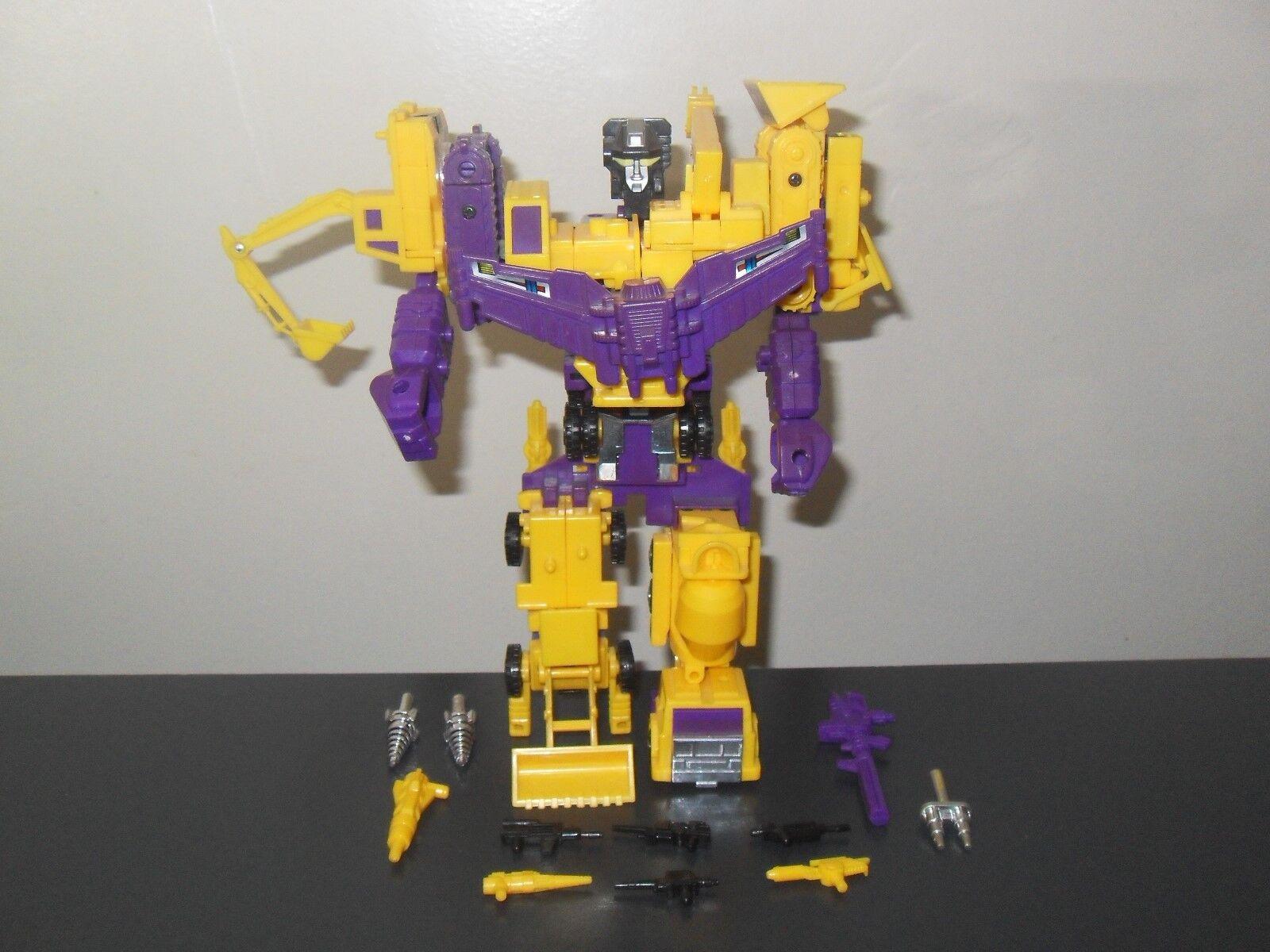 Transformers g2 original vintage devastator constructicons 99% complete