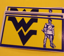 10 Vintage WVU WEST VIRGINIA MOUNTAINEERS Bumper Stickers NOS '80's Unused