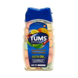Tums Assorted Fruit & Berries Extra Strength Fort 750mg 100 Tablets