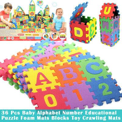 36 Pcs Soft EVA Foam Baby Kids Play Mat Alphabet Number Puzzle Toy Gift CA