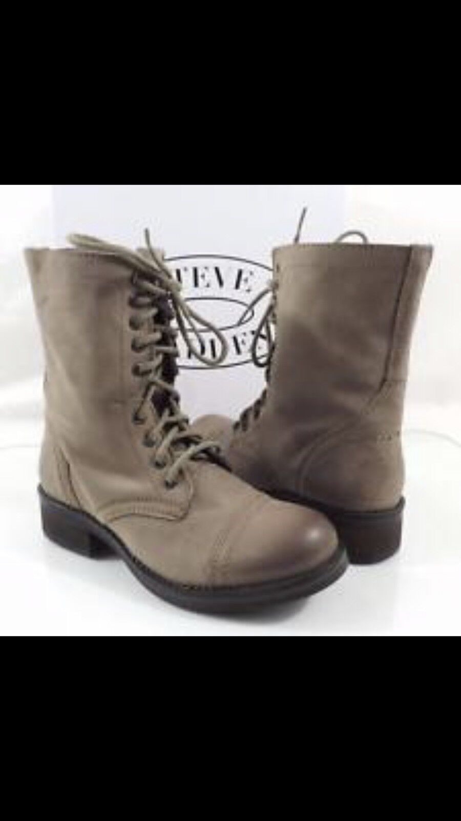 62ee54752d3 Steve Madden Troopa 2.0 Leather Leather Leather Combat Boots CHOOSE ...