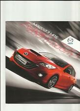 MAZDA 3 MPS SALES BROCHURE JUNE 2012 FOR 2013 MODEL YEAR