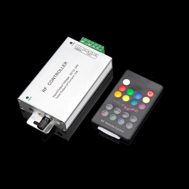 Music Control RF Audio RGB LED Controller 12A with Wireless Remote 268shop