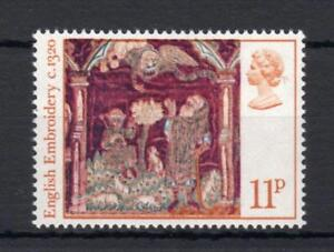 11p CHRISTMAS 1976 UNMOUNTED MINT ON UNCOATED PAPER Cat £75