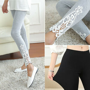 fashion women sexy lace cotton high waist leggings. Black Bedroom Furniture Sets. Home Design Ideas