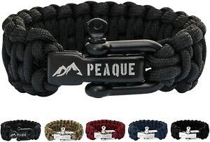 Peaque-survival-pulsera-de-Paracord-ajustable-cierre-de-acero-inoxidable