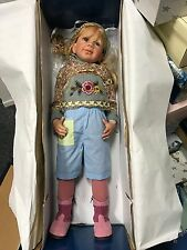 Monika Levenig Vinyl Puppe 90 cm. Top Zustand