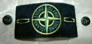 Stone-Island-stemma-patch-nero-con-bottoni-Original-black-patch-with-buttons