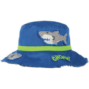 Stephen Joseph Kids Shark Bucket Sun Hats - Toddler Beach Hat for ... ad8f19b8ada