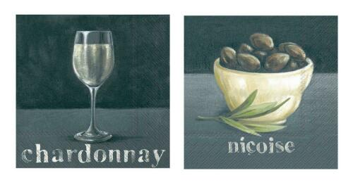 Boston Int Ideal Home Range IHR Dining Wine Cheese Paper Cocktail Napkins 3pl...