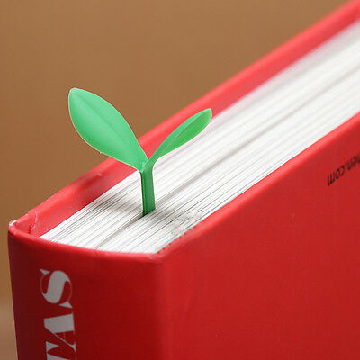 Set of 4 Tender Sprout Bookmark Silicone Shoot Bud Leaf Bookmark Green/Yellow