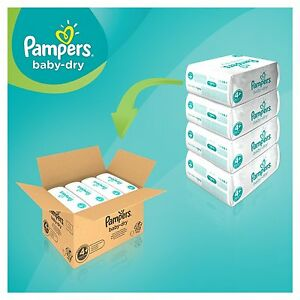 Pampers Baby Dry Size 5 GIGA Pack - 216 Nappies, Free Shipping