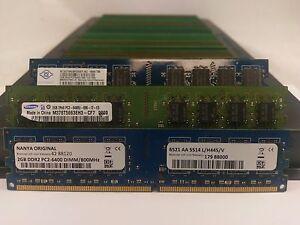 LOT-50-SAMSUNG-MICRON-HYNIX-2GB-DDR2-PC2-6400-800MHz-NONECC-DESKTOP-MEMORY-RAM