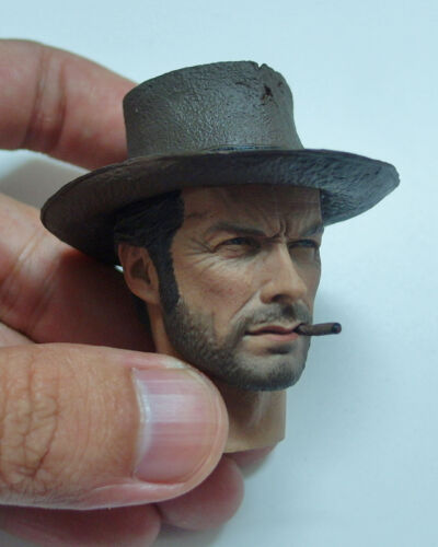 Custom made 1//6 Scale Clint Eastwood The Good Head Sculpt For Hot Toys Body