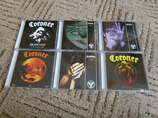 Coroner 6 CD SET Deat Cult R.I.P. Punishment No More Color Mental Vortex Grin..