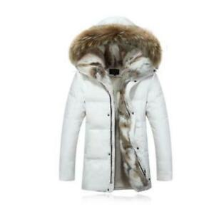 Hooded Women Lady Outerwear F158 Coat Fur Down Duck Winter Fleece Jacket Parka 7AX1xnAq