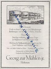 HOLTENAU, Werbung 1922, Georg zur Mühlen jr. Oel-Import Heiz-Öl Tank-Anlage