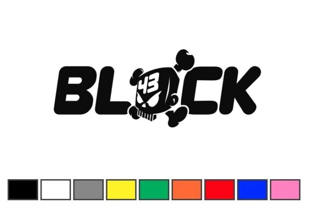 coppia adesivi KEN BLOCK 13x5cm decal sticker auto moto adesivo ritagliati