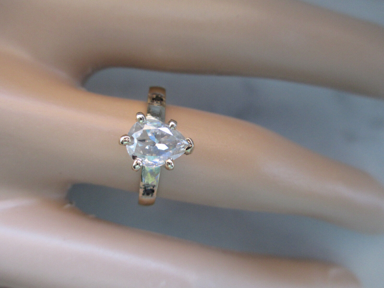 Beautiful 14K Yellow gold Plated Engagement Ring 1.15Ct White Diamond Size 7.5