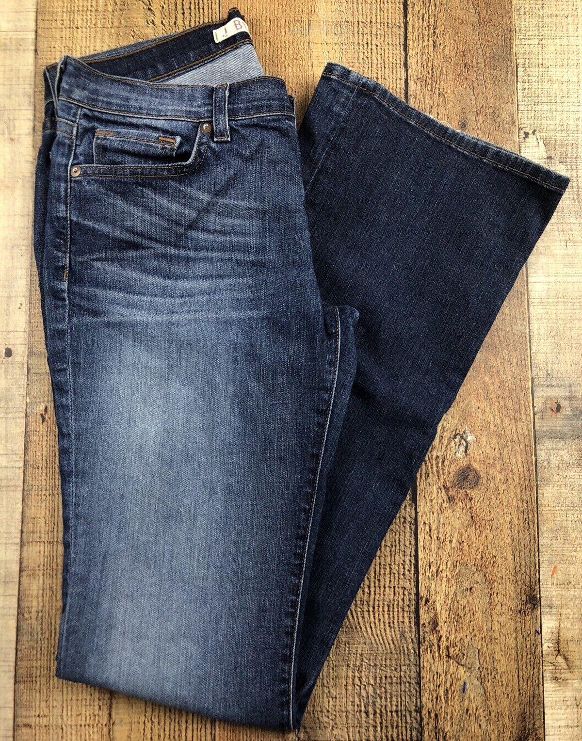 J Brand Bailey Dark Wash Boot Cut Low Rise Women's Jeans Size 27. 29x33x8