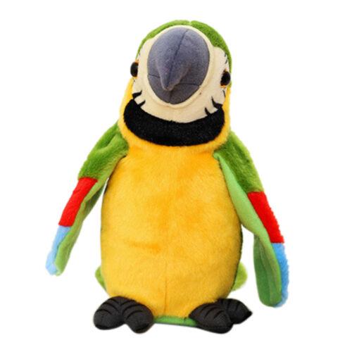 Adorable Speak Talking Record Repeat Waving Wing Cute Parrot Stuffed Plush Toy E