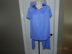 Vintage Vanity Fair 2 Piece Women S Pajama Set Periwinkle Small Nylon Usa Ebay