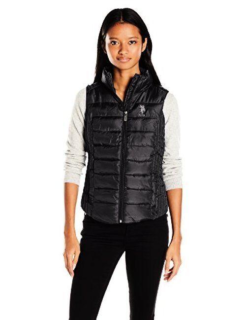 U.S. Polo Assn. Juniors Outerwear Womens Puffer Vest- Select SZ color.