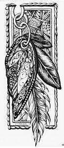 Temporares Tattoo Wolf Muster Wasserfest