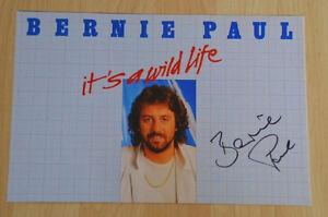 ORIGINAL-Autogramm-von-Bernie-Paul-pers-gesammelt-100-Echt-20x30-Foto