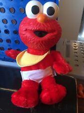 "Fisher-Price Sesame Street Cuddle & Care Elmo - Baby Elmo Plush Rubber Face 11"""