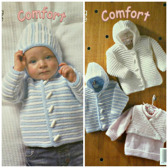 Baby Double Knitting Pattern King Cole Melody DK Sweater Cardigan Selection 3842