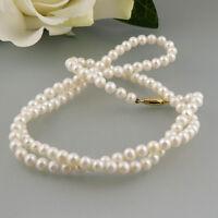 Perlenkette mit einer in 333/8k Gelbgoldschließe