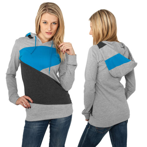Urbn Classics Damen ZigZag Jersey Hoody Kapuzenpullover Kapuzen Pulli Sweater
