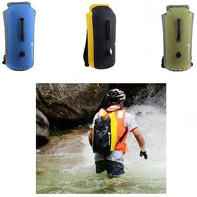 25L/35L/60L Travel Waterproof Drift Dry Backpack Bag Canoe Floating Fishing Swim