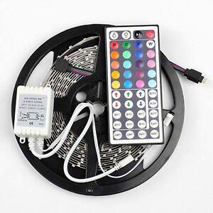 RGB-5M-3528-SMD-LED-Strip-Light-300leds-44-key-Controller-Power