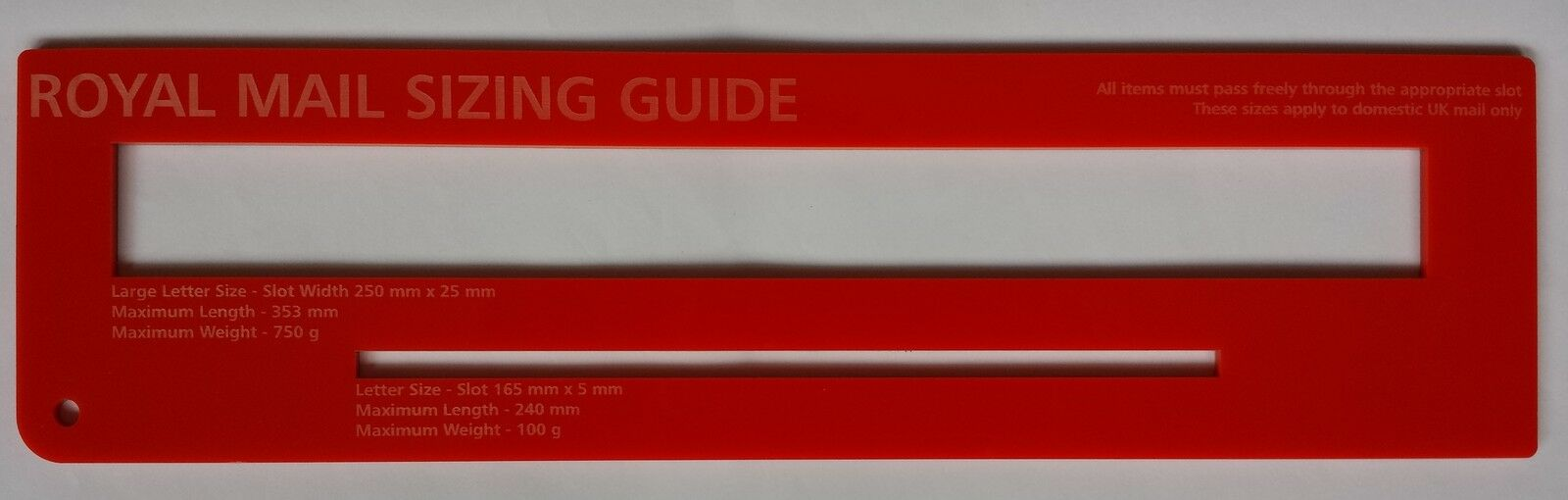 Red royal mail ppi size guide post office postal price postage red royal mail ppi size guide post office postal price postage ruler template spiritdancerdesigns Images