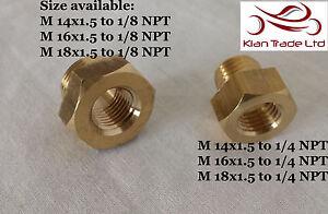 Brass Drain Sump plugs Adaptor sensors gauge oil temperature NPT X Metric thread