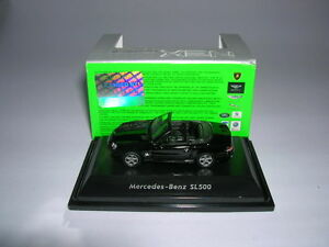 Welly-mercedes-benz-sl500-sl-500-convertible-negro-Black-1-87-h0-nuevo-embalaje-original
