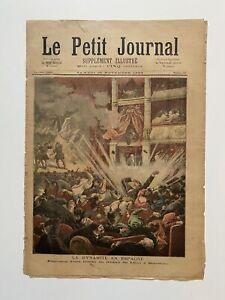 Supplement-Illustre-Le-Petit-Journal-25-11-1893-N-157-DYNAMITE-EN-ESPAGNE