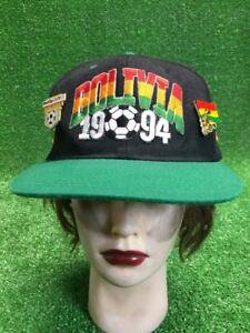 Vintage 1994 Bolivia World Cup Soccer Homemade Design Hat Cap SnapBack Soccer wo