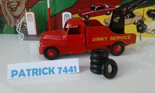 Lot de 5 pneus  18//8 noir pour depanneuse Citroen U23  Dinky Toys 35A