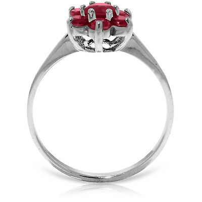 0.66 Carat 14K Solid White Gold Rekindle Ruby Ring Anniversary Bridal Size 5-11