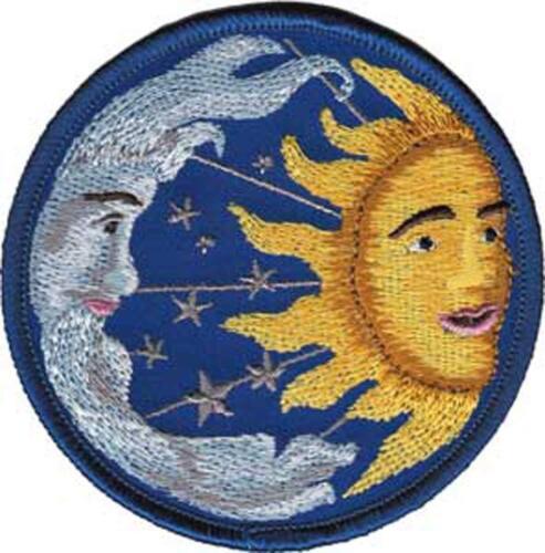 Sun Moon /& Stars Embroidered Iron On Patch Stars Sky 148-W