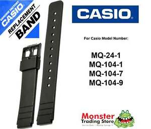 CASIO WATCH BAND REPLACEMENT ORIGINAL ONLY FITS: MQ-24, MQ-104 840596025571
