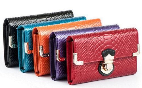 Luxus Damen Portemonnaie Portmonee Geldbörse Rot Schwarz blau Wallet NEU