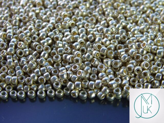 Lot of 10g 3 or 2.2mm 80 or 110 rock beads toho glass bronze